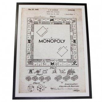 Indrammet Monopoly illustration